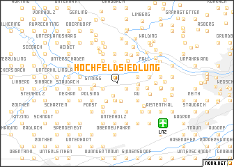 map of Hochfeldsiedlung