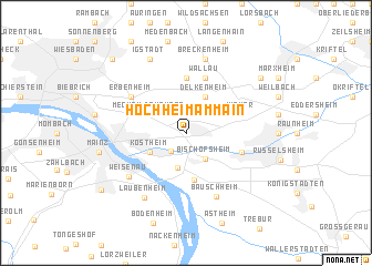 map of Hochheim am Main