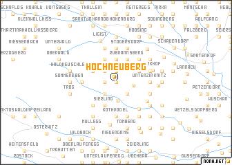 map of Hochneuberg