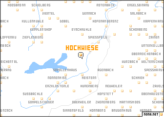 map of Hochwiese