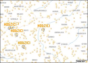 map of Hodžići