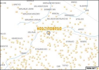 map of Hodžino Brdo