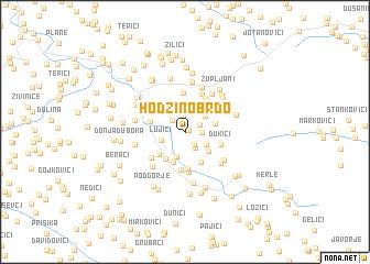 map of Hodžino Brdo