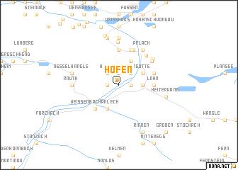 map of Höfen