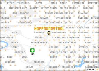 map of Hoffnungsthal