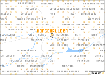 map of Hofschallern