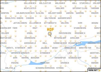 map of Hof