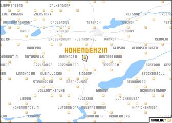 map of Hohen Demzin