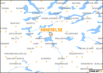 map of Hohenelse