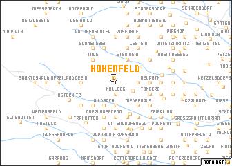 map of Hohenfeld