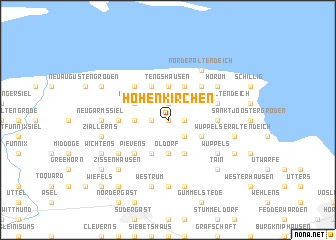 map of Hohenkirchen