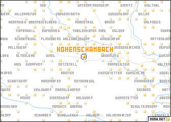 map of Hohenschambach