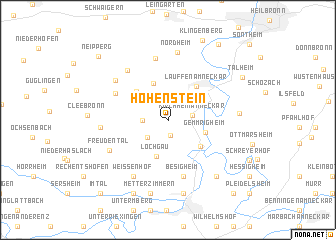 map of Hohenstein