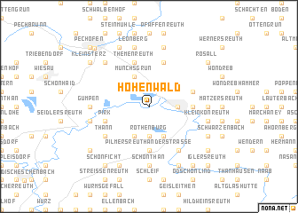 map of Hohenwald