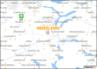 map of Hoherlehme