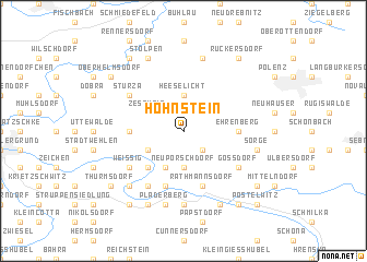 map of Hohnstein