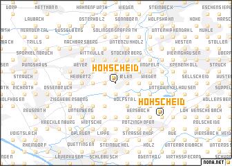 map of Höhscheid
