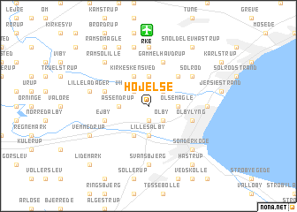 map of Højelse