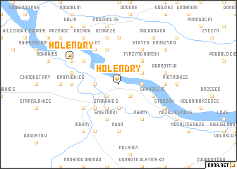 map of Holendry