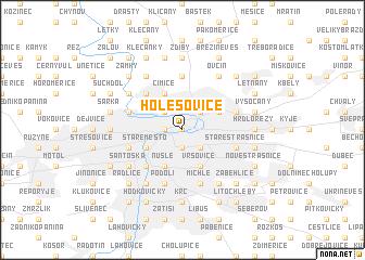 map of Holešovice