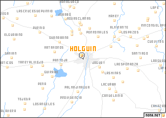 map of Holguín