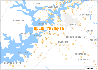 map of Holiday Heights