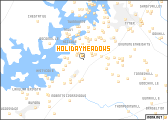 map of Holiday Meadows