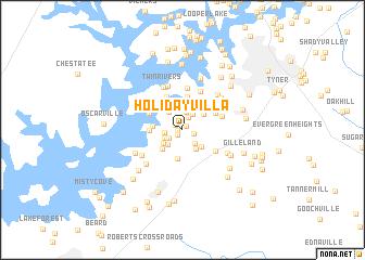 map of Holiday Villa