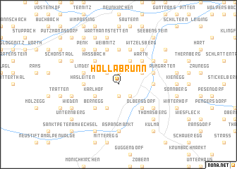 map of Hollabrunn