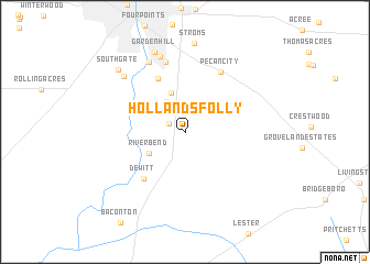 map of Hollands Folly