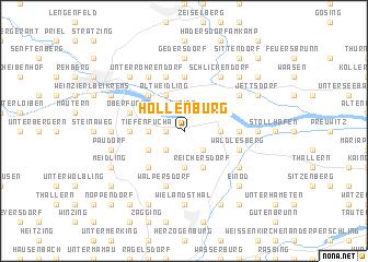 map of Hollenburg