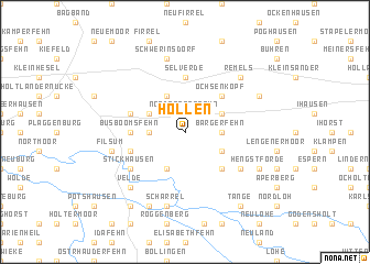 map of Hollen