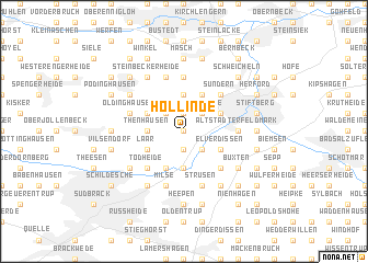 map of Hollinde