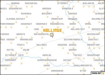 map of Hollinde