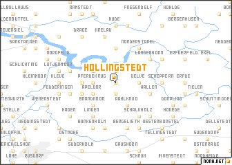 map of Hollingstedt