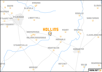 map of Hollins