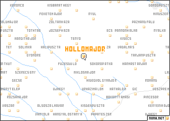 map of Hollómajor