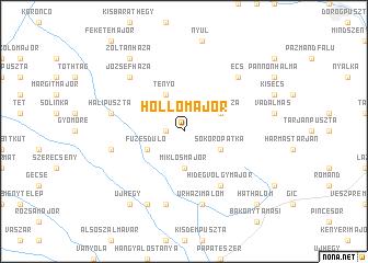 map of Hollómajor