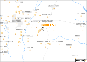 map of Hollow Hills