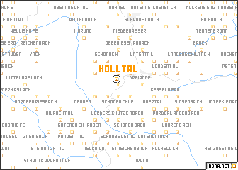 map of Hölltal