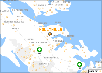 map of Holly Hills