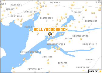 Map Usa Hollywood map of Hollywood Beach