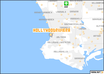 Hollywood Riviera (United States - USA) map - nona.net