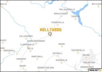 Map Usa Hollywood map of Hollywood