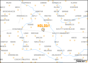 map of Hołody