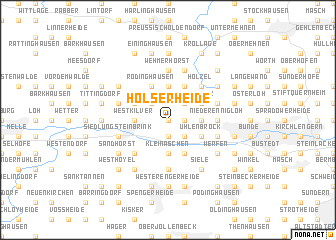 map of Holserheide