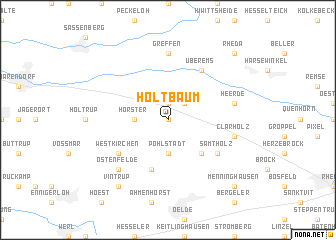 map of Holtbaum