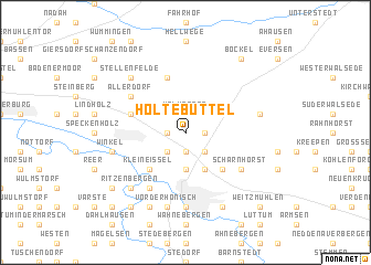 map of Holtebüttel