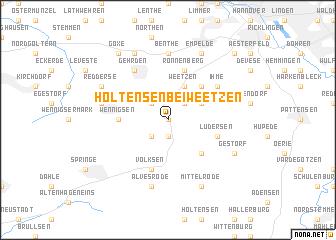 map of Holtensen bei Weetzen