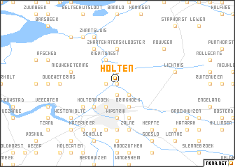 Holten Netherlands map nonanet